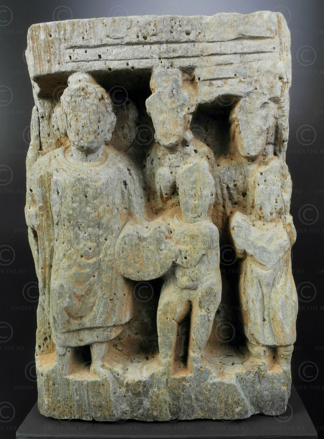 Gandhara frieze fragment PK219B. Swat valley, Pakistan.