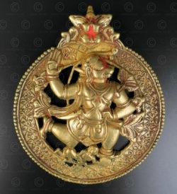 Pendentif Hanuman 16N54. Etat du Karnataka, Inde du sud.