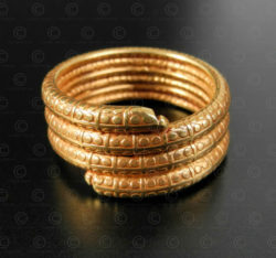 Bague serpent or R305. Artisanat contemporain du nord de l'Inde.