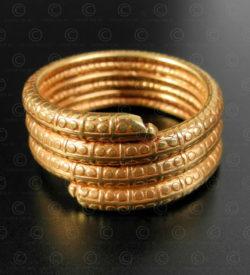 Bague serpent or R305. Artisanat contemporain du nord de l'Inde.