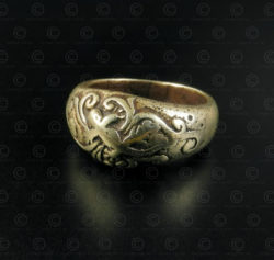 Batak gold ring R307. Batak culture, Sumatra island, Indonesia.