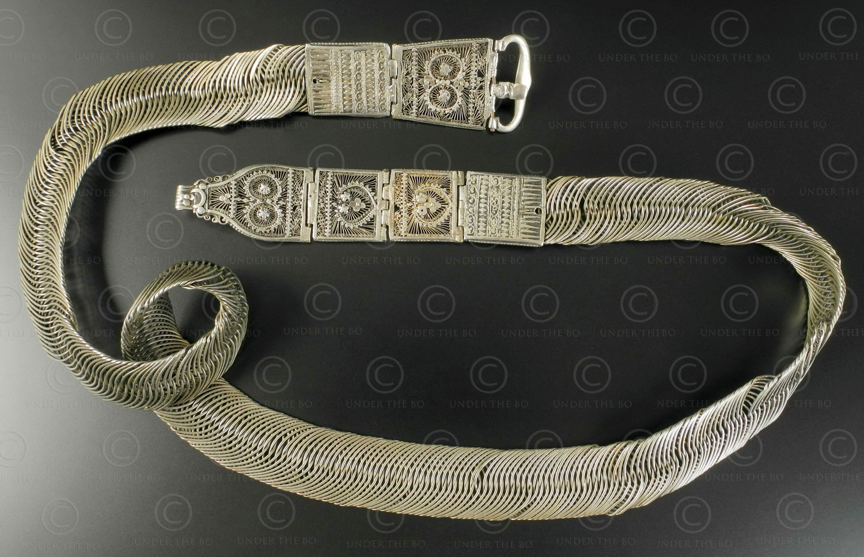 Kerala silver belt S72. Region of Kozhikode (Calicut), Northern Kerala, Southern India.