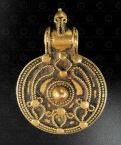 Orisha gold pendant P206. Orisha state, Eastern India.