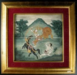 Peinture de manuscript thai T281, Siam, 19ème siècle