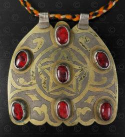 Turkmen silver pendant P208. Turkmen culture. Afghanistan.