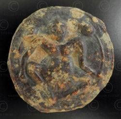 Dvaravati tin coin C321A. Thailand.