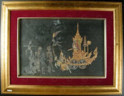 Peinture de manuscript thai T282, Siam, 19ème siècle