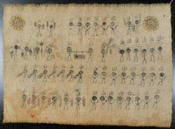 Yao auspicoius banner YA95B. Iu Mien Yao minority, Laos.