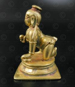 Bronze Bala Krishna 16N50. Karnataka state, Southern India.