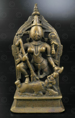 Bronze Durga statuette 16N11. Maharashtra State, South India.