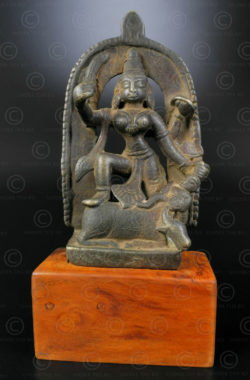Bronze Durga statuette 16N27. Maharashtra State, South India.