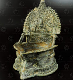 Gajalakshmi oil lamp A252. Found In Pakistan, made in Southern India.