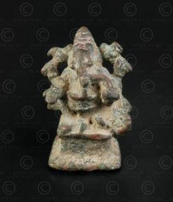 Ganesh bronze 16P16A. Région du Deccan, Inde du sud.
