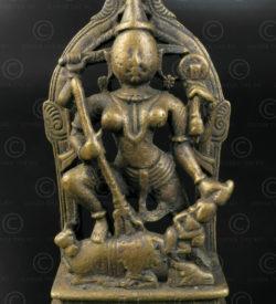 Statuette Durga bronze 16N11. Etat du Maharashtra. Inde du sud.
