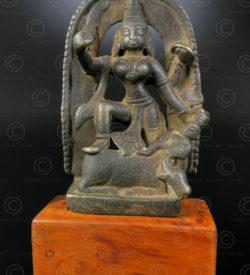 Statuette Durga bronze 16N27. Etat du Maharashtra. Inde du sud.