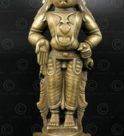 Bronze Vitobha debout 16N12. Région de Pandharpur, Etat du Maharashtra. Inde du sud.