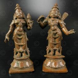Statuettes Rama et Sita 16N28. Etat du Karnataka, Inde du sud.