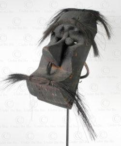Bidayuh articulated mask BO242. Bidayuh Dayak culture, Sarawak, Borneo island.