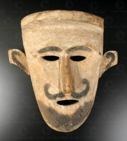 Bidayuh hunter mask BO256. Bidayuh Dayak culture, Sarawak, Borneo island.