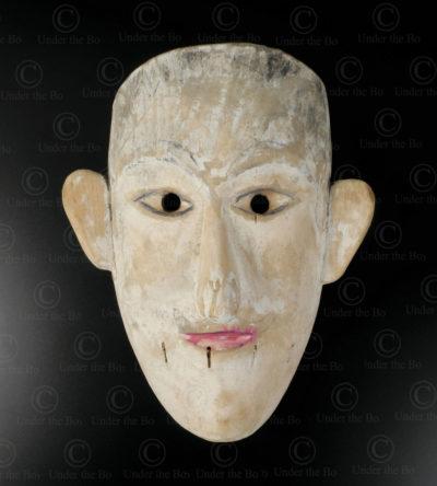 Bidayuh white mask BO257C. Bidayuh Dayak culture, Sarawak, Borneo island.