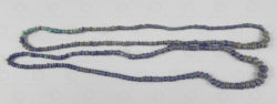 Borneo blue glass trade beads BD256. Western Kalimantan, Indonesia.