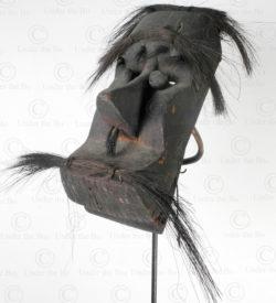 Masque articulé bidayuh BO242. Culture dayak bidayuh, Sarawak, île de Bornéo.