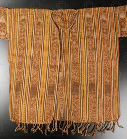 Veste ikat iban ID30. Tribu dayak iban, Sarawak ou Kalimantan de l'ouest, Indonésie. Début 20ème siècle.