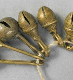 Naga Bronze bells BU562. Naga minority, Eastern India hills.