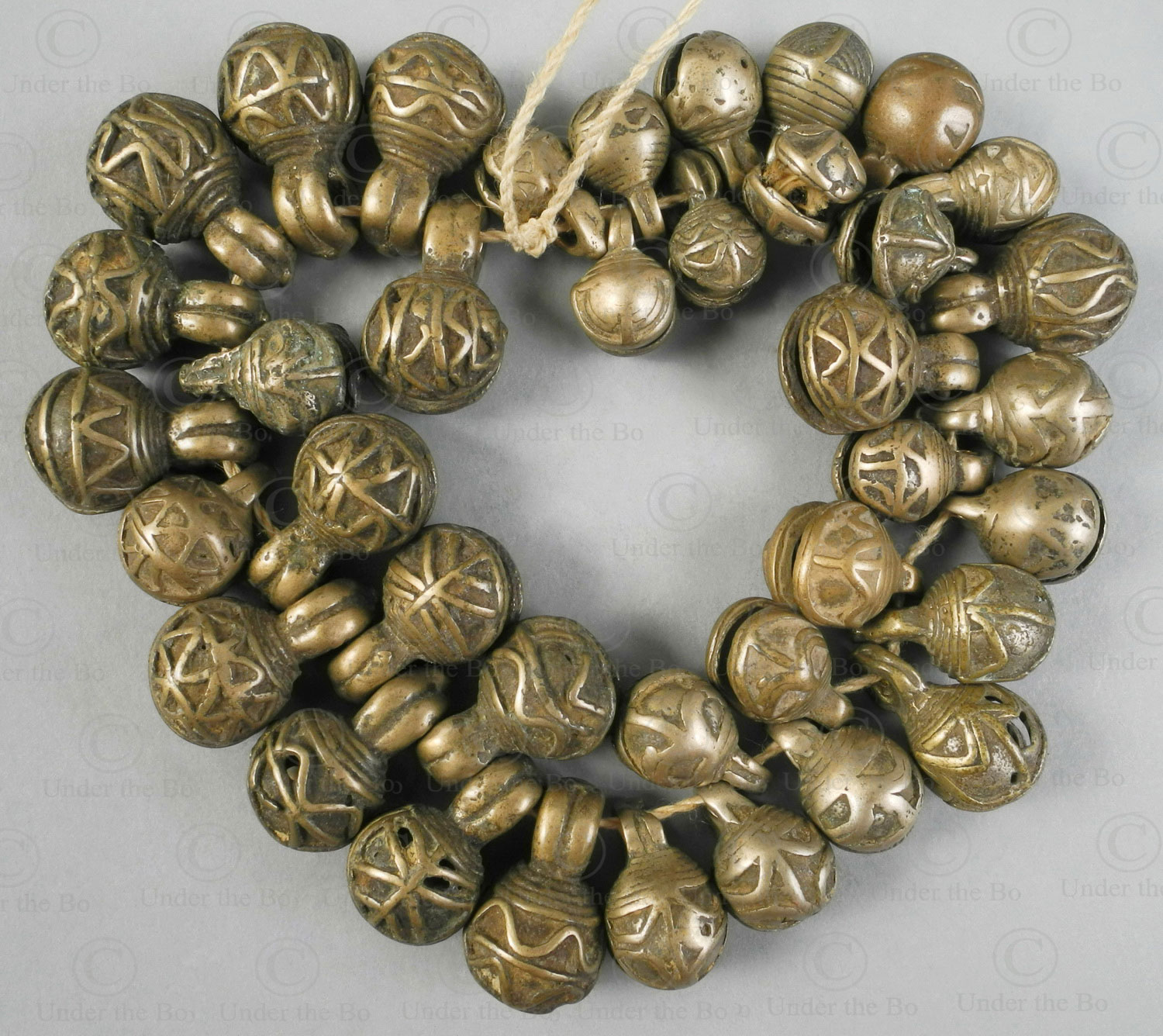 Bronze jingle bells BU553. Chin minority, Western Burma Hills.