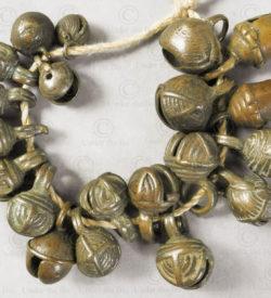 Chin small bronze bells BU558. Chin minority, Western Burma Hills.