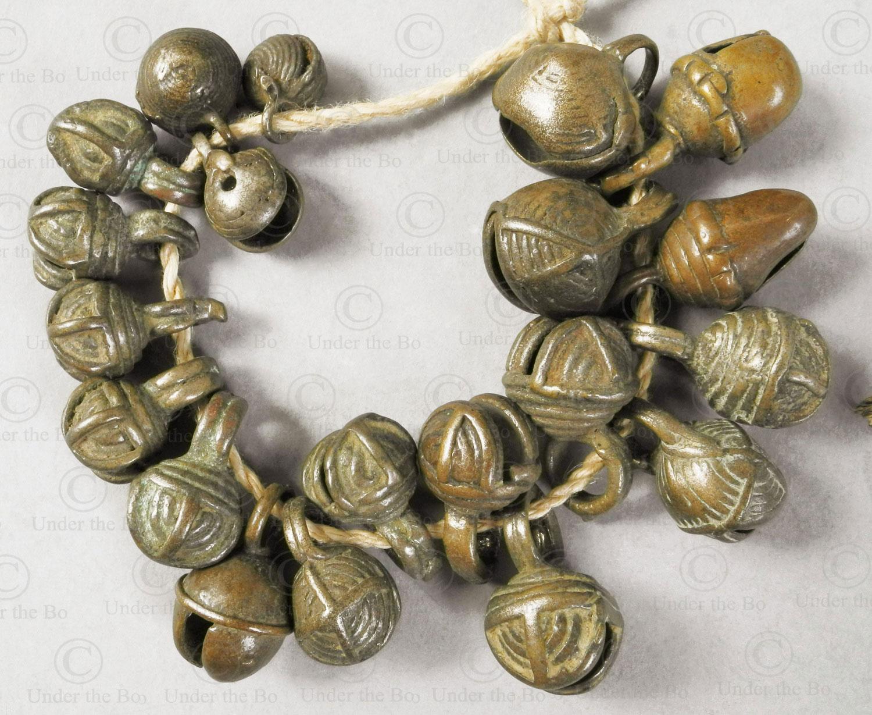 Clochettes Chin bronze BU558. Minorité Chin, Collines de la Birmanie de l'Ouest.