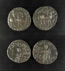 Gandhara silver coins C333. Indo-Scythian (Saka) kingdoms - Gandhara.