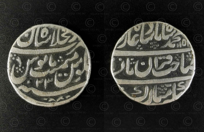 Mughal silver rupee C332. Mughal Empire. Northern India/Pakistan.