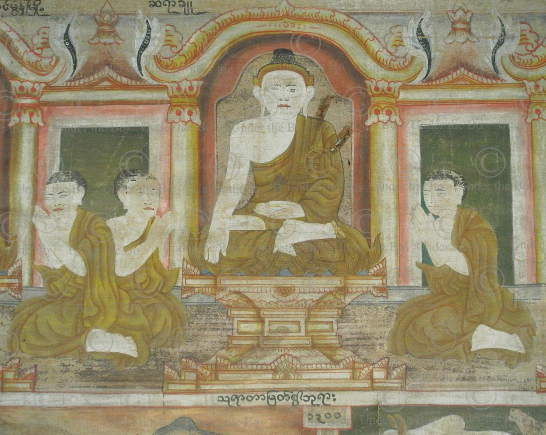 Burmese tapestry BU560. Mandalay region, Norther Burma.