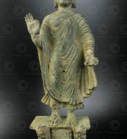 Gandhara bronze Buddha PK245. Found in the Swat valley. ancient Gandhara kingdom (nowadays in Northern Pakistan).