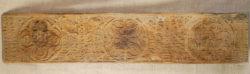Carved cedar panel 17FP6. Swat valley, Northern Pakistan.