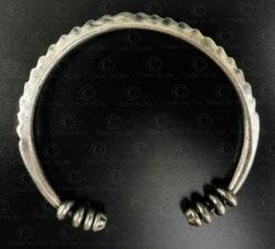 Akha silver bracelet B235. Akha style minority, Northern Laos.