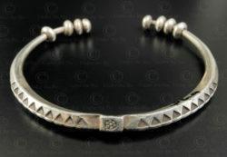Akha silver bracelet B236. Akha style minority, Northern Laos.