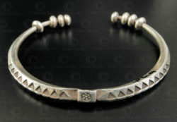 Bracelet argent akha B236. Style minorité Akha, nord du Laos.