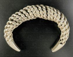 Bracelet argent torsadé B224. Minorité Akha, nord du Laos.