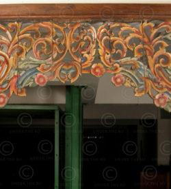 Painted wood jali