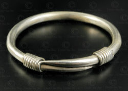 Hmong twisted silver bracelet B230. Hmong minority, Northern Laos.