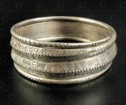 Hmong silver bracelet B231. Hmong minority, Northern Laos.
