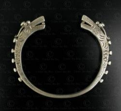 Tai Lue silver dragon bracelet B225A. Tai Lue minority, Northern Laos.