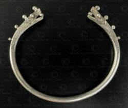 Tai Lue silver dragon bracelet B227. Tai Lue minority, Northern Laos.