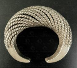 Twisted silver bracelet B223. Akha minority, Northern Laos.