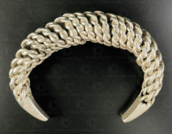 Twisted silver bracelet B224. Akha minority, Northern Laos.