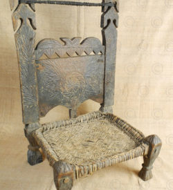 Kohistan low chair 17F52L. Matiltan village, Kalam area, Kohistan mountains, upper Swat valley, North Pakistan.