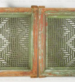 Pair of Punjab see-through panels 17FP42C. Punjab region, Pakistan.
