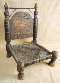 Swat low chair 17F52D. Miandam village, Khwaza Khela area, Swat valley, North Pakistan.